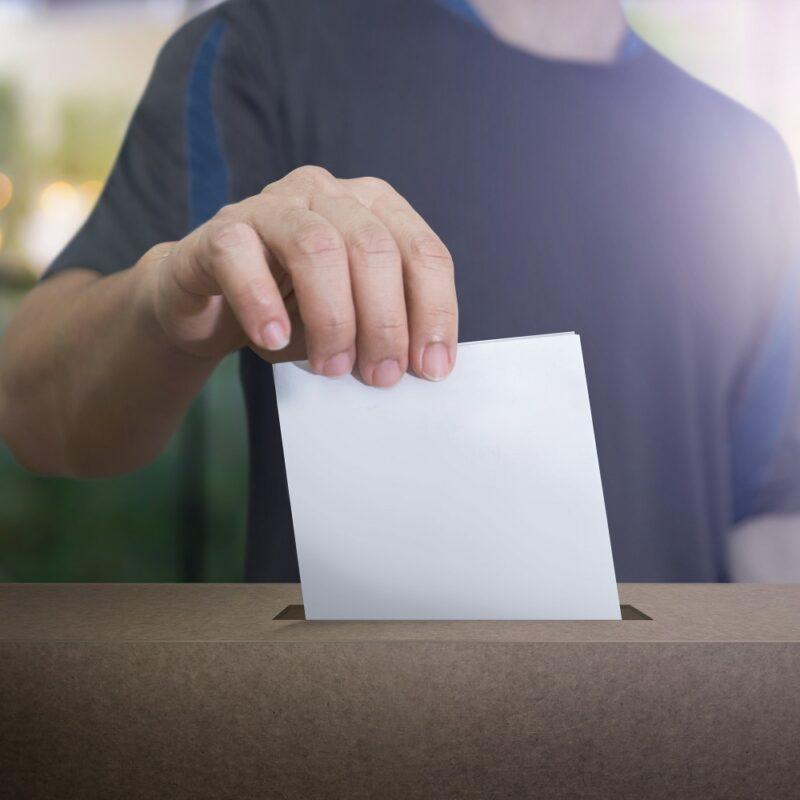 Personne entrain de voter